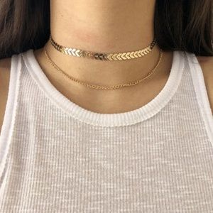 ✨NEW! Double Layer Arrow Choker Necklace Boho Cute